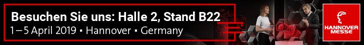 Ticket zur Hannovermesse, erhältlich mit Vorab-Onlineregistrierung, gültig im DIN A4 Ausdruck.